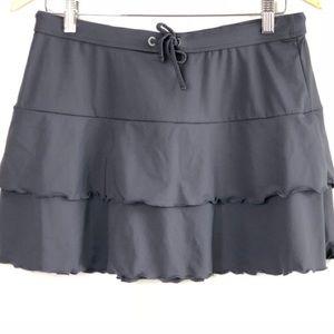 Athleta Flirt Skirt Swimsuit Coverup Grey Size M